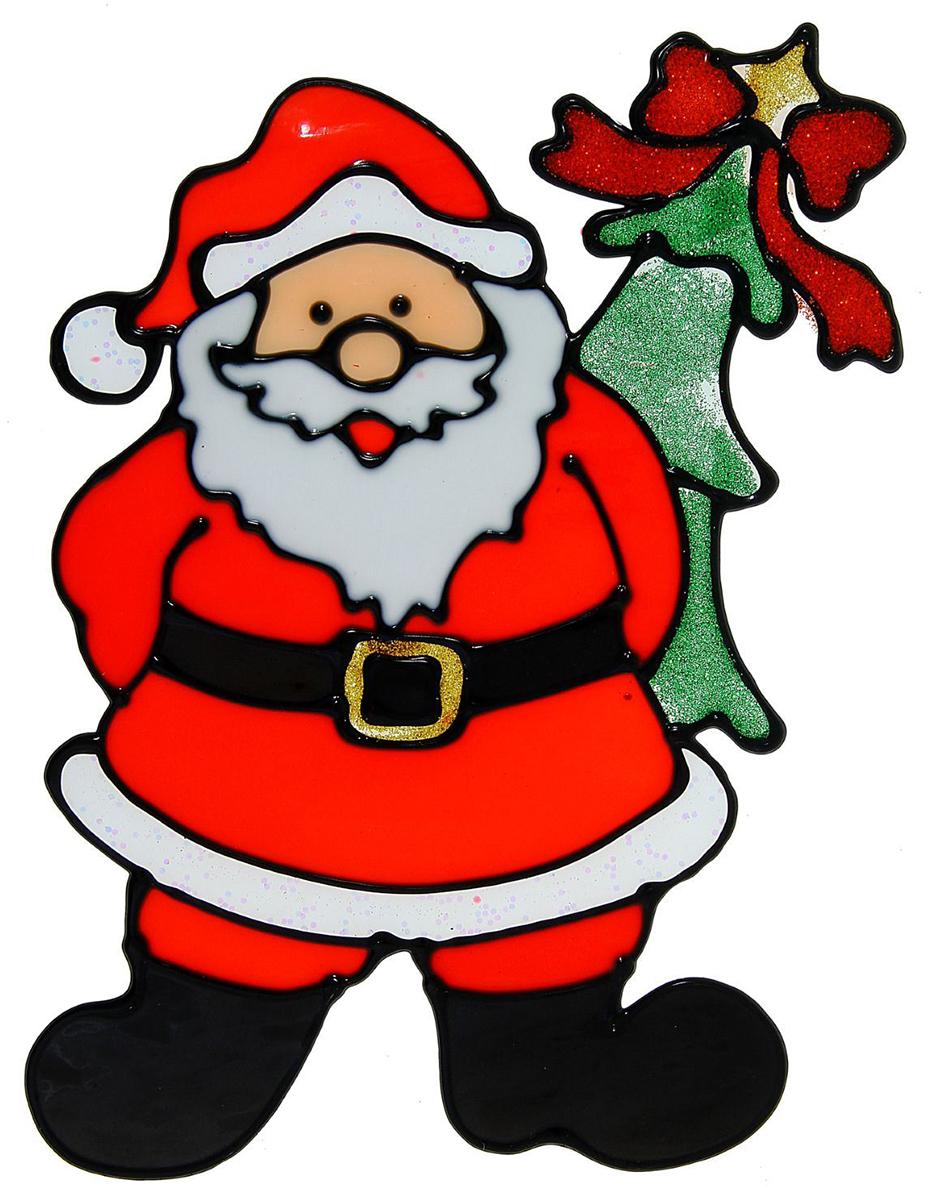Украшение новогоднее оконное NoName Дед Мороз прячет елку, 13 х 19,5 см1113578Новогоднее оконное украшение NoName Дед Мороз прячет елку поможет украсить дом к предстоящим праздникам. Яркая наклейка крепится к гладкой поверхности стекла посредством статического эффекта. С помощью такого украшения вы сможете оживить интерьер по своему вкусу.Новогодние украшения всегда несут в себе волшебство и красоту праздника. Создайте в своем доме атмосферу тепла, веселья и радости, украшая его всей семьей.