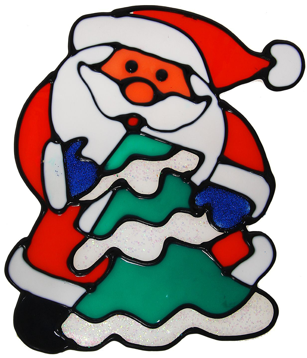 Украшение новогоднее оконное NoName Дед Мороз с елкой, 12 х 15,5 см1113572Новогоднее оконное украшение NoName Дед Мороз с елкой поможет украсить дом к предстоящим праздникам. Яркая наклейка крепится к гладкой поверхности стекла посредством статического эффекта. С помощью такого украшения вы сможете оживить интерьер по своему вкусу.Новогодние украшения всегда несут в себе волшебство и красоту праздника. Создайте в своем доме атмосферу тепла, веселья и радости, украшая его всей семьей.