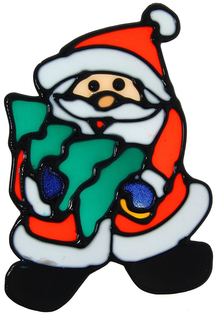 Украшение новогоднее оконное NoName Дед Мороз с елкой, 10,5 х 14 см1113555Новогоднее оконное украшение NoName Дед Мороз с елкой поможет украсить дом к предстоящим праздникам. Яркая наклейка крепится к гладкой поверхности стекла посредством статического эффекта. С помощью такого украшения вы сможете оживить интерьер по своему вкусу.Новогодние украшения всегда несут в себе волшебство и красоту праздника. Создайте в своем доме атмосферу тепла, веселья и радости, украшая его всей семьей.