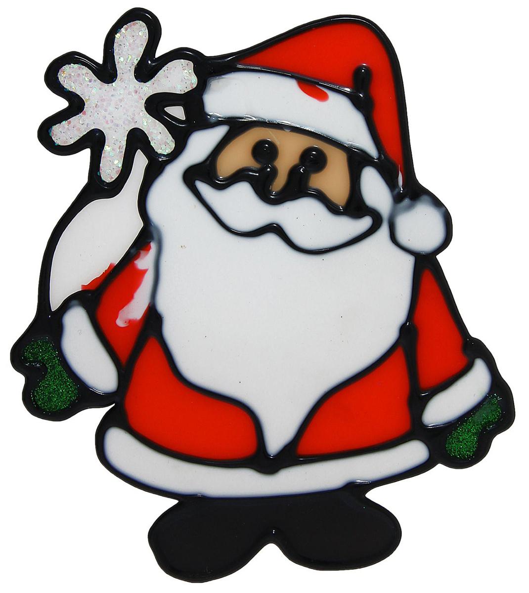 Украшение новогоднее оконное Дед Мороз с ромашкой, 11,5 х 13 см1113554Новогоднее оконное украшение Дед Мороз с ромашкой поможет украсить дом кпредстоящим праздникам. Яркая наклейка крепится к гладкой поверхности стекла посредствомстатического эффекта. С помощью такого украшения вы сможете оживить интерьер по своемувкусу. Новогодние украшения всегда несут в себе волшебство и красоту праздника. Создайте в своемдоме атмосферу тепла, веселья и радости, украшая его всей семьей.