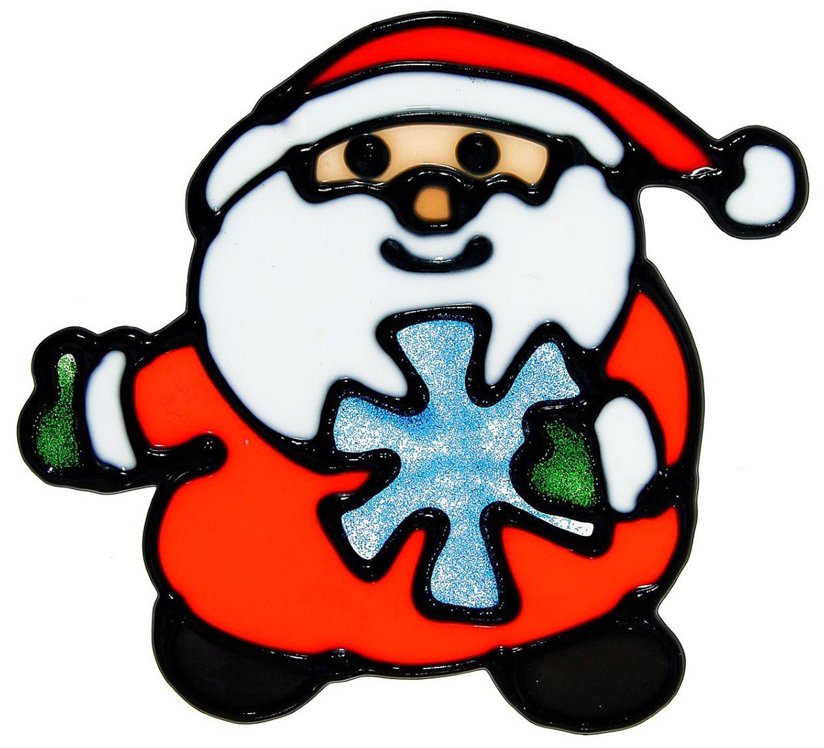 Украшение новогоднее оконное NoName Дед Мороз со снежинкой, 11,5 х 12,5 см1113550Новогоднее оконное украшение NoName Дед Мороз со снежинкой поможет украсить дом к предстоящим праздникам. Яркая наклейка крепится к гладкой поверхности стекла посредством статического эффекта. С помощью такого украшения вы сможете оживить интерьер по своему вкусу.Новогодние украшения всегда несут в себе волшебство и красоту праздника. Создайте в своем доме атмосферу тепла, веселья и радости, украшая его всей семьей.