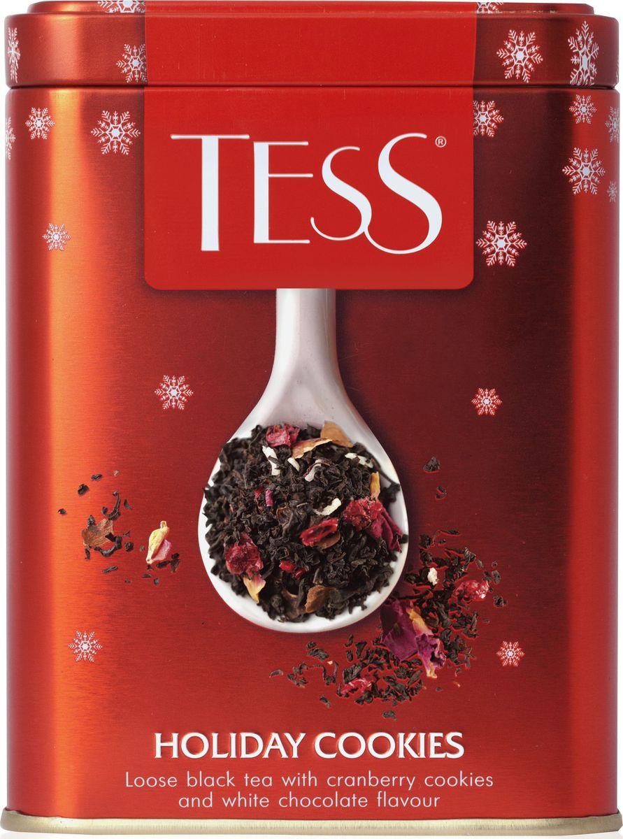 Tess Holiday Cookies черный листовой чай с ароматом праздничного печенья, 110 г1230-20Чудесная композиция Holiday Cookies создана по мотивам излюбленного рождественского лакомства- сдобного хрустящего печенья с ягодами и орехами, кокосом и шоколадом. В основе Holiday Cookies виртуозный купаж лучших сортов индийского и цейлонского чая,Всё о чае: сорта, факты, советы по выбору и употреблению. Статья OZON Гид