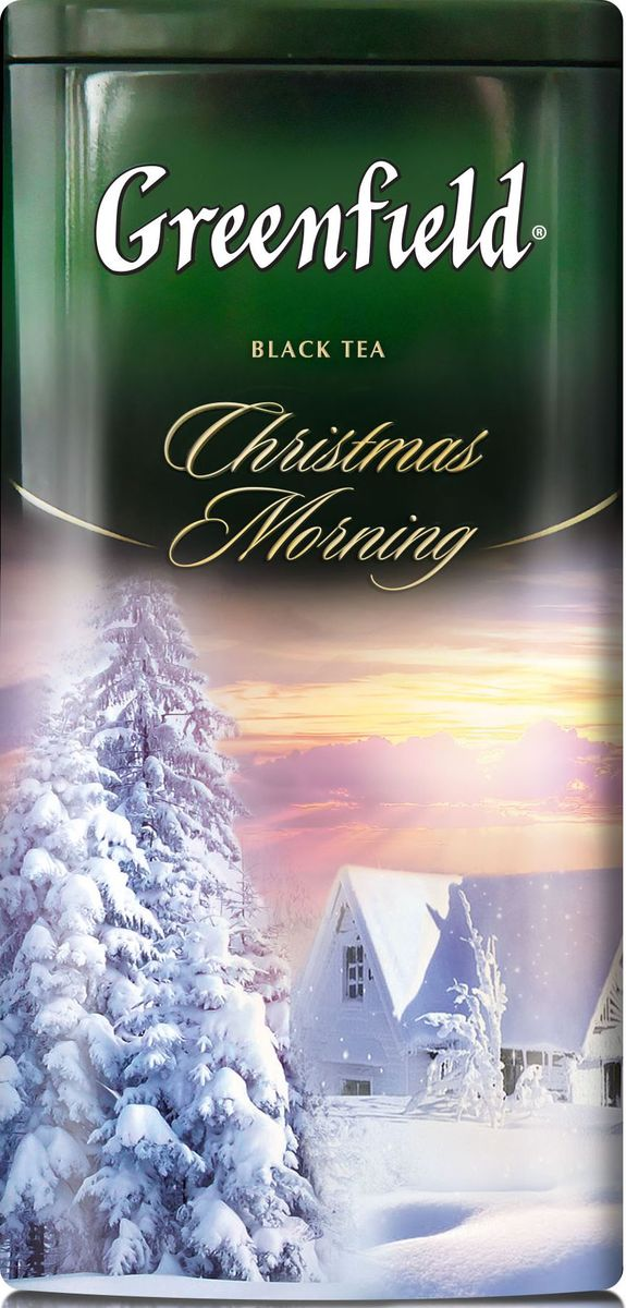 Greenfield Christmas Morning черный листовой чай с ароматом тирамису, 120 г greenfield jasmine dream зеленый ароматизированный листовой чай 100 г