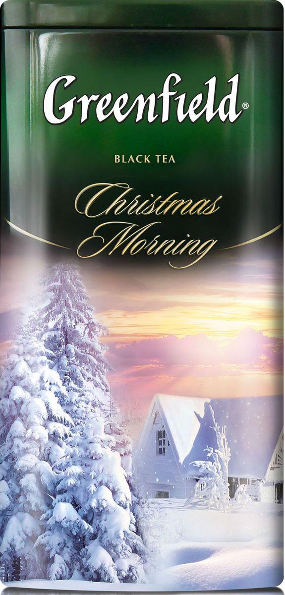 Greenfield Christmas Morning черный листовой чай с ароматом тирамису, 120 г greenfield blueberry forest черный листовой чай 250 г