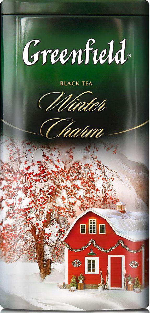 Greenfield Winter Charm черный листовой чай с ароматом красных ягод и можжевельника, 120 г greenfield jasmine dream зеленый ароматизированный листовой чай 200 г
