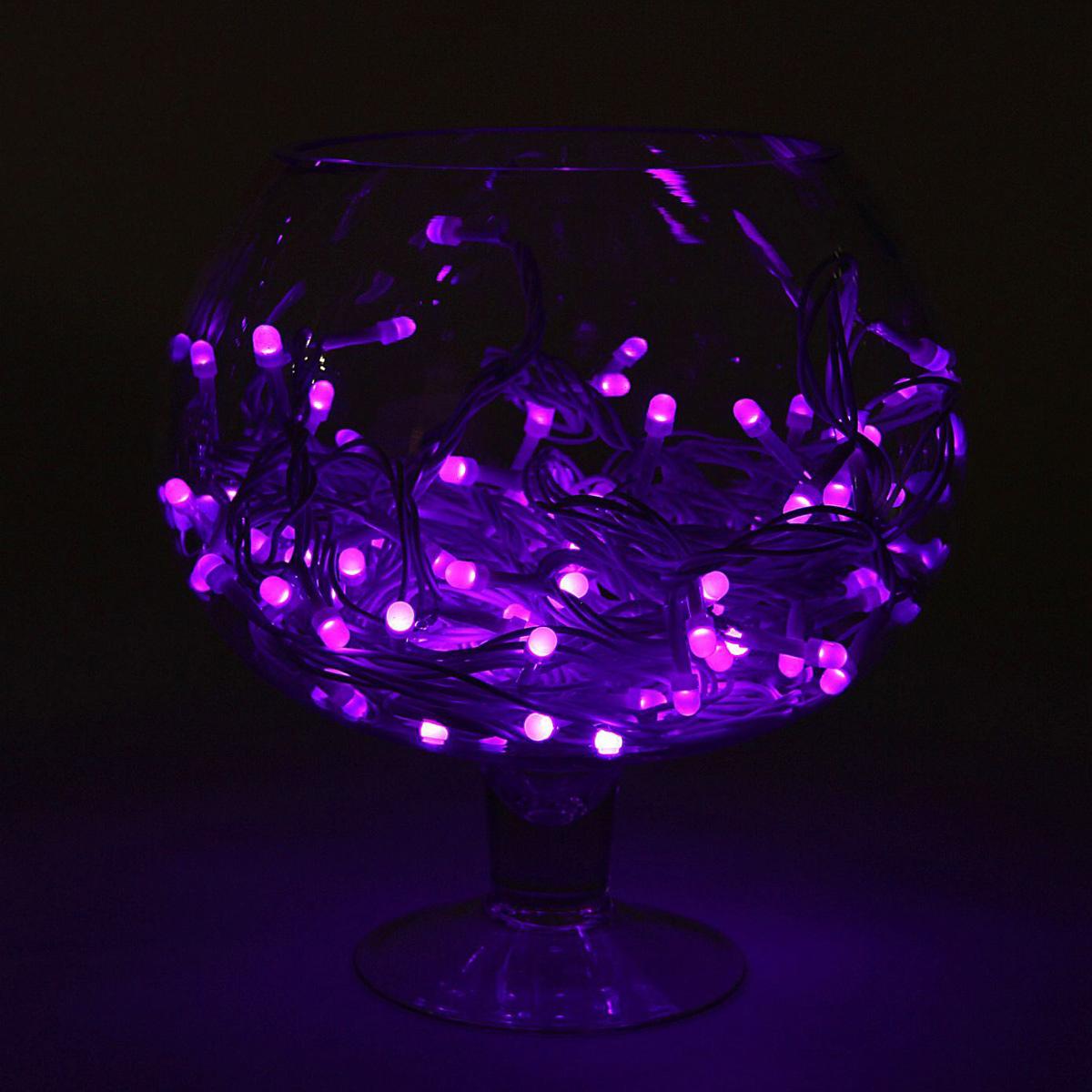 Гирлянда светодиодная Luazon Метраж, уличная, 8 режимов, 200 ламп, 220 V, 20 м, цвет: фиолетовый. 10805661080566Светодиодные гирлянды, ленты и т.д. — это отличный вариант для новогоднего оформления интерьера или фасада. С их помощью помещение любого размера можно превратить в праздничный зал, а внешние элементы зданий, украшенные ими, мгновенно станут напоминать очертания сказочного дворца. Такие украшения создают ауру предвкушения чуда. Деревья, фасады, витрины, окна и арки будто специально созданы, чтобы вы украсили их светящимися нитями.
