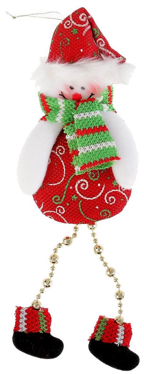 Украшение новогоднее подвесное NoName Пухляш-снеговик. Ножки-бусинки, 8 х 15 см2388987Новогоднее подвесное украшение NoName Пухляш-снеговик. Ножки-бусинки выполнено из текстиля. С помощью специальной петельки украшение можно повесить в любом понравившемся вам месте. Но, конечно, удачнее всего оно будет смотреться на праздничной елке.Елочная игрушка - символ Нового года. Она несет в себе волшебство и красоту праздника. Создайте в своем доме атмосферу веселья и радости, украшая новогоднюю елку нарядными игрушками, которые будут из года в год накапливать теплоту воспоминаний.