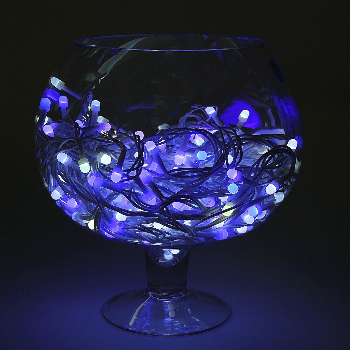 Гирлянда светодиодная Luazon Метраж, уличная, моргает, 200 ламп, 220 V, 20 м, цвет: синий. 10805691080569Светодиодные гирлянды, ленты и т.д. — это отличный вариант для новогоднего оформления интерьера или фасада. С их помощью помещение любого размера можно превратить в праздничный зал, а внешние элементы зданий, украшенные ими, мгновенно станут напоминать очертания сказочного дворца. Такие украшения создают ауру предвкушения чуда. Деревья, фасады, витрины, окна и арки будто специально созданы, чтобы вы украсили их светящимися нитями.