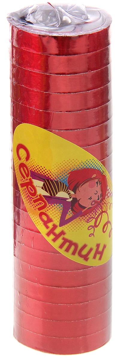 Серпантин Страна Карнавалия, цвет: красный, 18 шт310187Серпантин - незаменимый атрибут любого торжества. Такой аксессуар станет отличным завершением поздравления или выступления: просто подбросьте яркий клубочек вверх и блестящая ленточка распутается в воздухе и эффектно закрутится спиралью. Такие полоски способны до неузнаваемости преобразить любое помещение. Развешайте их на люстре, украсьте новогоднюю елочку, закрепите на шторах, и вы увидите, как все вокруг заиграет новыми красками.