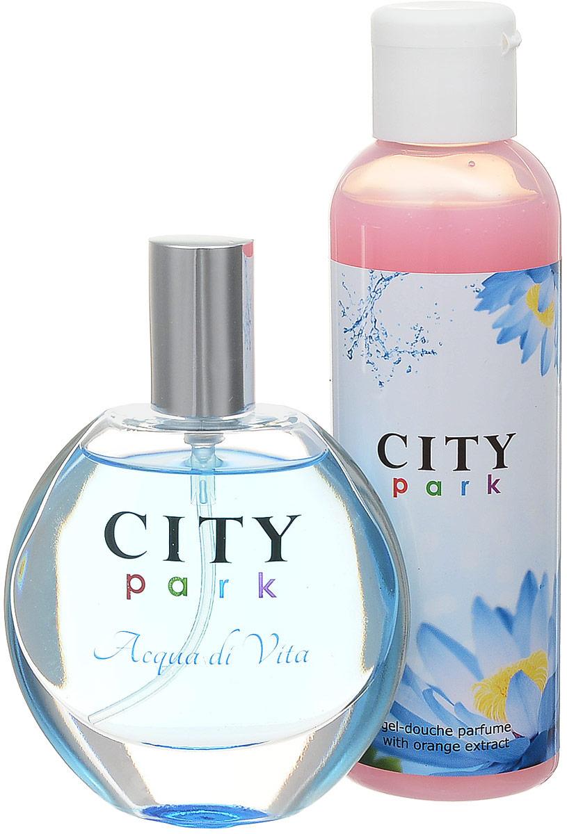 City Parfum Парфюмированный набор: City Park Acqua di Vita Туалетная вода, 50 мл + Гель для душа, 150 мл