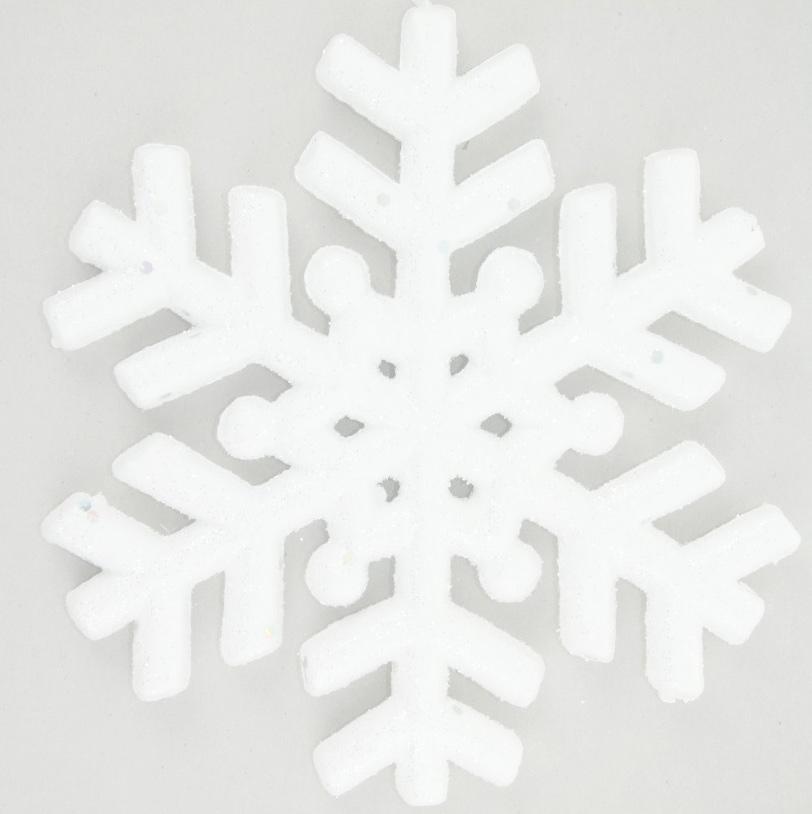 Новогоднее подвесное украшение Белый перелив. Снежинка1113526Новогоднее украшение ручной работы отлично подойдет для декорации вашего дома и новогодней ели. С помощью специальной петельки украшение можно повесить в любом понравившемся вам месте. Но, конечно, удачнее всего оно будет смотреться на праздничной елке.Елочная игрушка - символ Нового года. Она несет в себе волшебство и красоту праздника. Такое украшение создаст в вашем доме атмосферу праздника, веселья и радости.