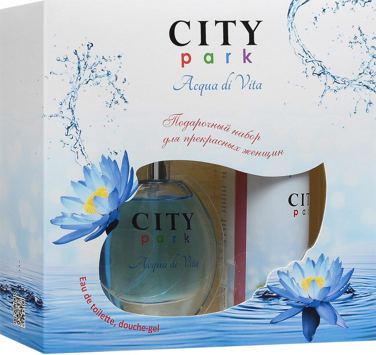 City ParfumПарфюмированный набор:  City Park Acqua di Vita Туалетная вода, 50 мл + Гель для душа, 150 мл City Parfum