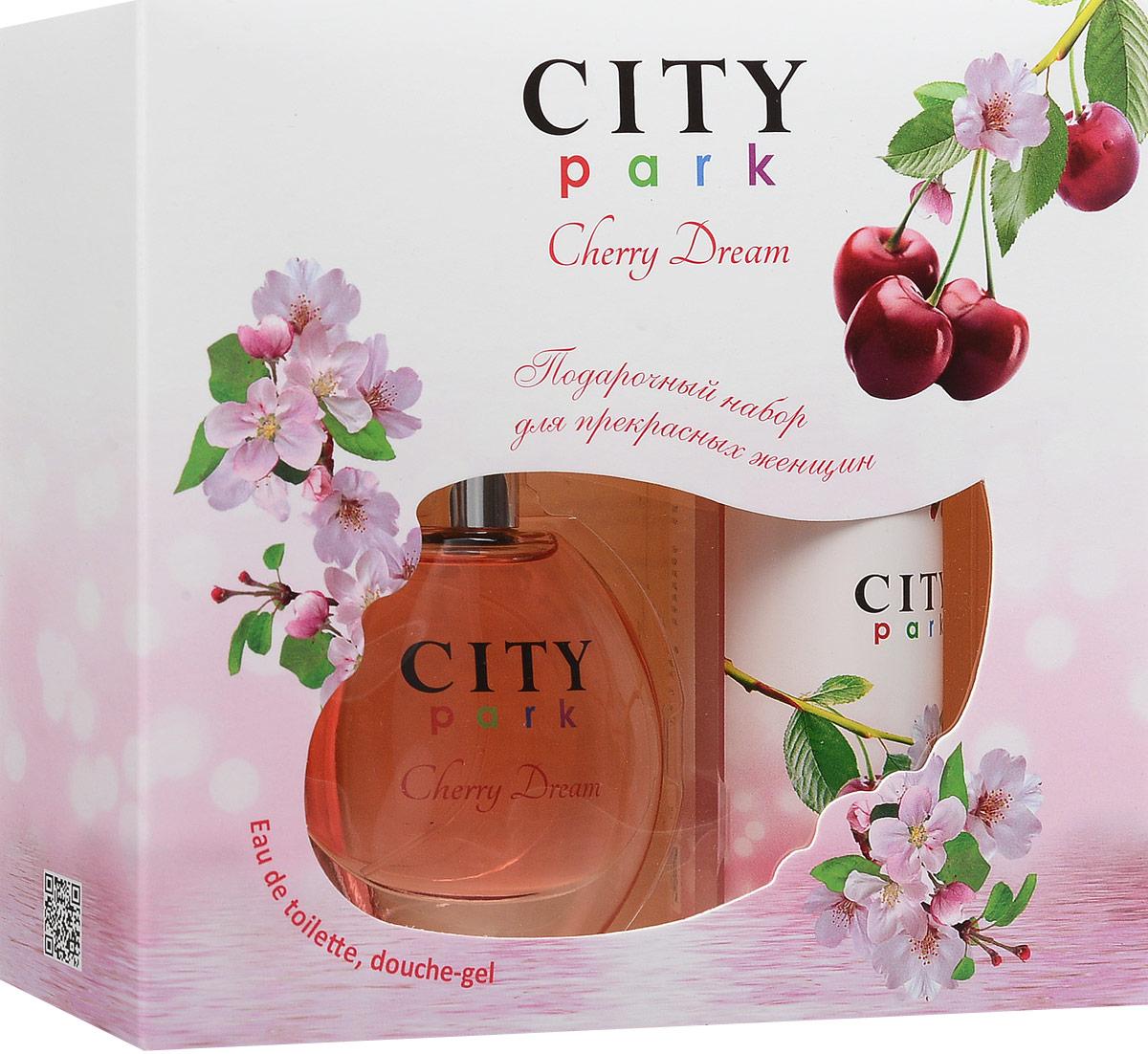 City ParfumПарфюмированный набор:  City Park Cherry Dream Туалетная вода, 50 мл + Гель для душа, 150 мл City Parfum