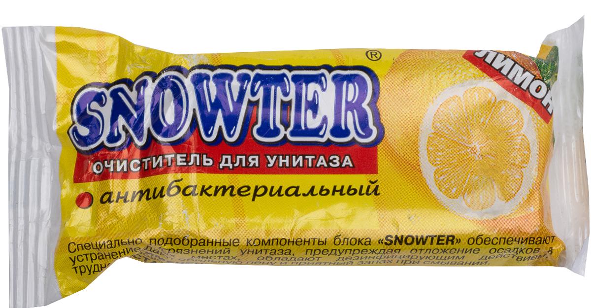 Очиститель для унитаза Snowter, запасной блок, лимон, 40 г бытовая химия snowter очиститель для унитазов хвоя свежесть запасной блок подвеска 40 г