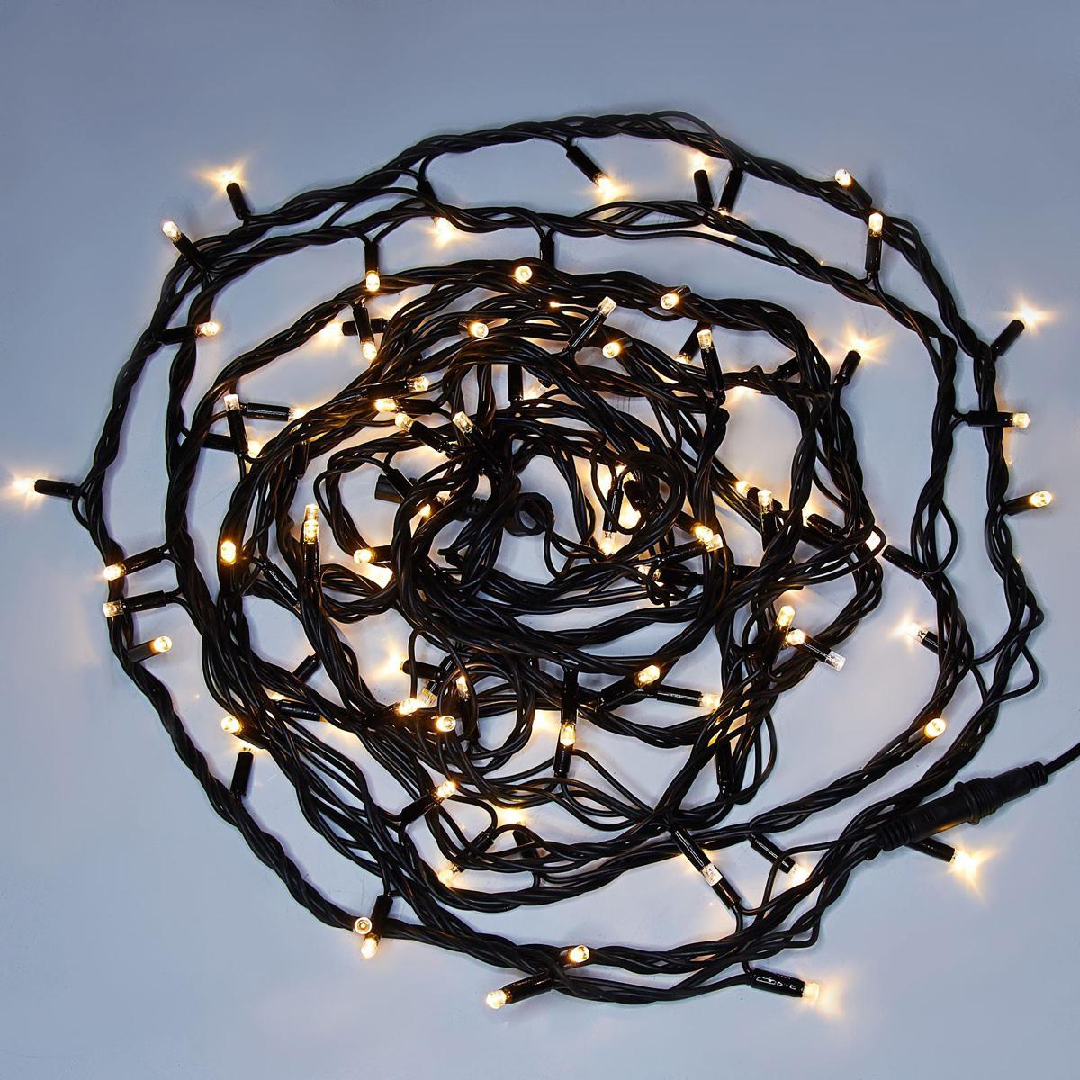 Гирлянда светодиодная Luazon Метраж. Каучук, уличная, 100 ламп, 220 V, 10 м, цвет: белый. 10806351080635Светодиодные гирлянды, ленты и т.д. — это отличный вариант для новогоднего оформления интерьера или фасада. С их помощью помещение любого размера можно превратить в праздничный зал, а внешние элементы зданий, украшенные ими, мгновенно станут напоминать очертания сказочного дворца. Такие украшения создают ауру предвкушения чуда. Деревья, фасады, витрины, окна и арки будто специально созданы, чтобы вы украсили их светящимися нитями.