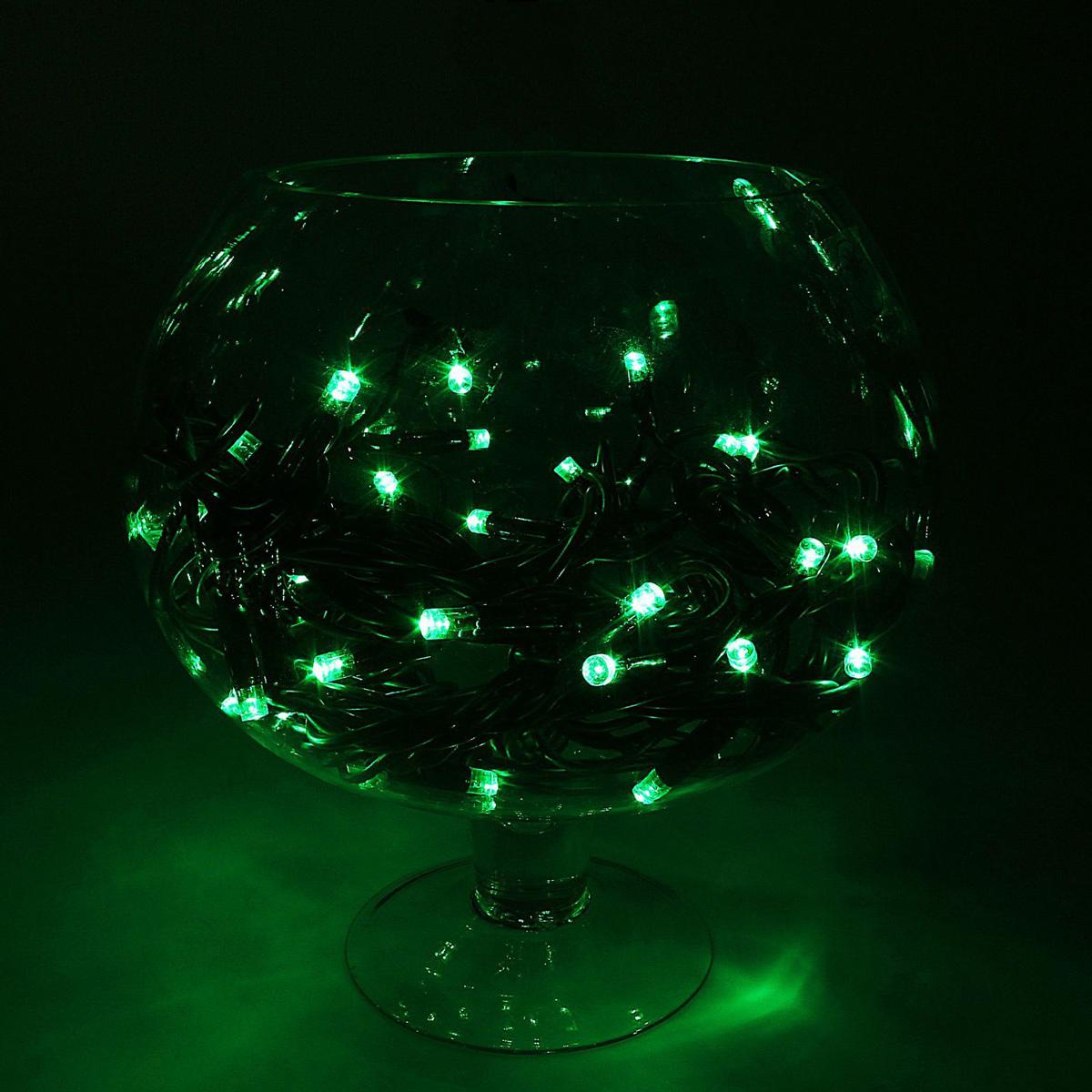 Гирлянда светодиодная Luazon Метраж. Каучук, уличная, 100 ламп, 220 V, 10 м, цвет: зеленый. 10806331080633Светодиодные гирлянды, ленты и т.д. — это отличный вариант для новогоднего оформления интерьера или фасада. С их помощью помещение любого размера можно превратить в праздничный зал, а внешние элементы зданий, украшенные ими, мгновенно станут напоминать очертания сказочного дворца. Такие украшения создают ауру предвкушения чуда. Деревья, фасады, витрины, окна и арки будто специально созданы, чтобы вы украсили их светящимися нитями.