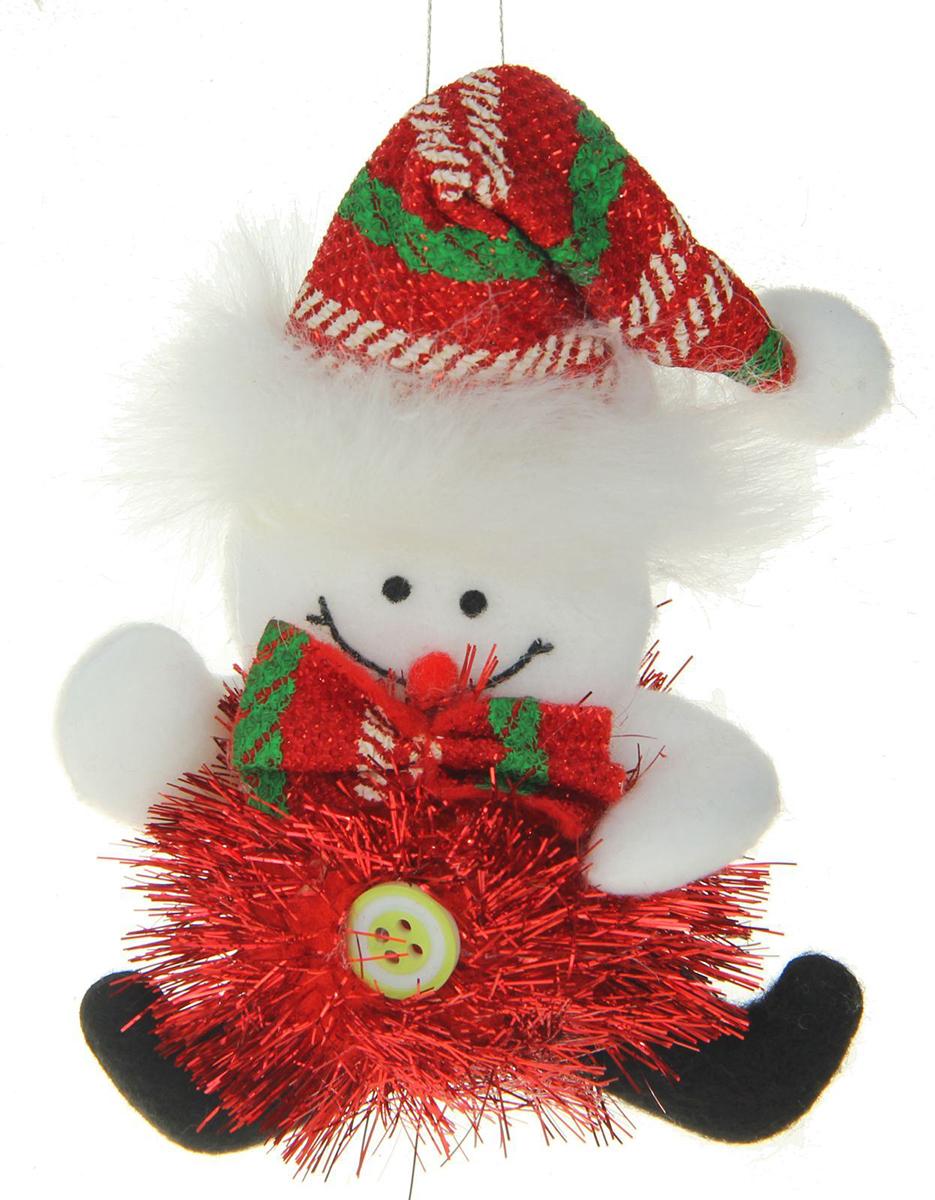 Новогоднее подвесное украшение Блеск. Красный снеговик1381172Новогоднее украшение ручной работы отлично подойдет для декорации вашего дома и новогодней ели. С помощью специальной петельки украшение можно повесить в любом понравившемся вам месте. Но, конечно, удачнее всего оно будет смотреться на праздничной елке.Елочная игрушка - символ Нового года. Она несет в себе волшебство и красоту праздника. Такое украшение создаст в вашем доме атмосферу праздника, веселья и радости.