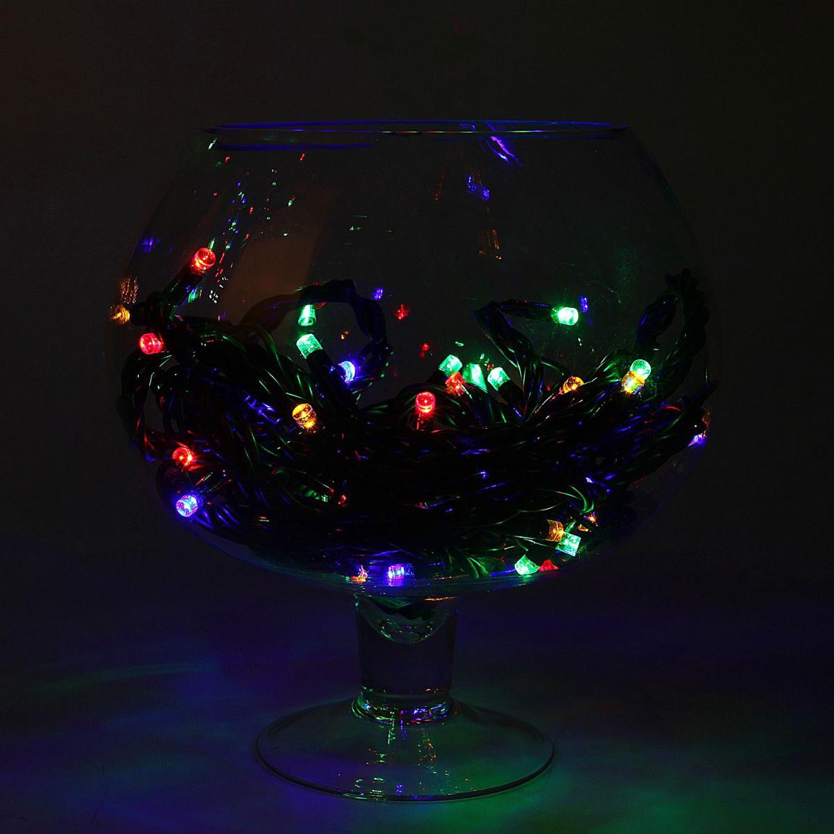 Гирлянда светодиодная Luazon Метраж. Каучук, уличная, 100 ламп, 220 V, 10 м, цвет: мультиколор. 1080629 гирлянда luazon дождь 2m 6m multicolor 671678