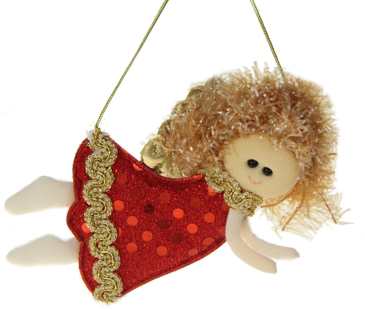 Новогоднее подвесное украшение Летящая девочка1381187Новогоднее украшение ручной работы отлично подойдет для декорации вашего дома и новогодней ели. С помощью специальной петельки украшение можно повесить в любом понравившемся вам месте. Но, конечно, удачнее всего оно будет смотреться на праздничной елке.Елочная игрушка - символ Нового года. Она несет в себе волшебство и красоту праздника. Такое украшение создаст в вашем доме атмосферу праздника, веселья и радости.