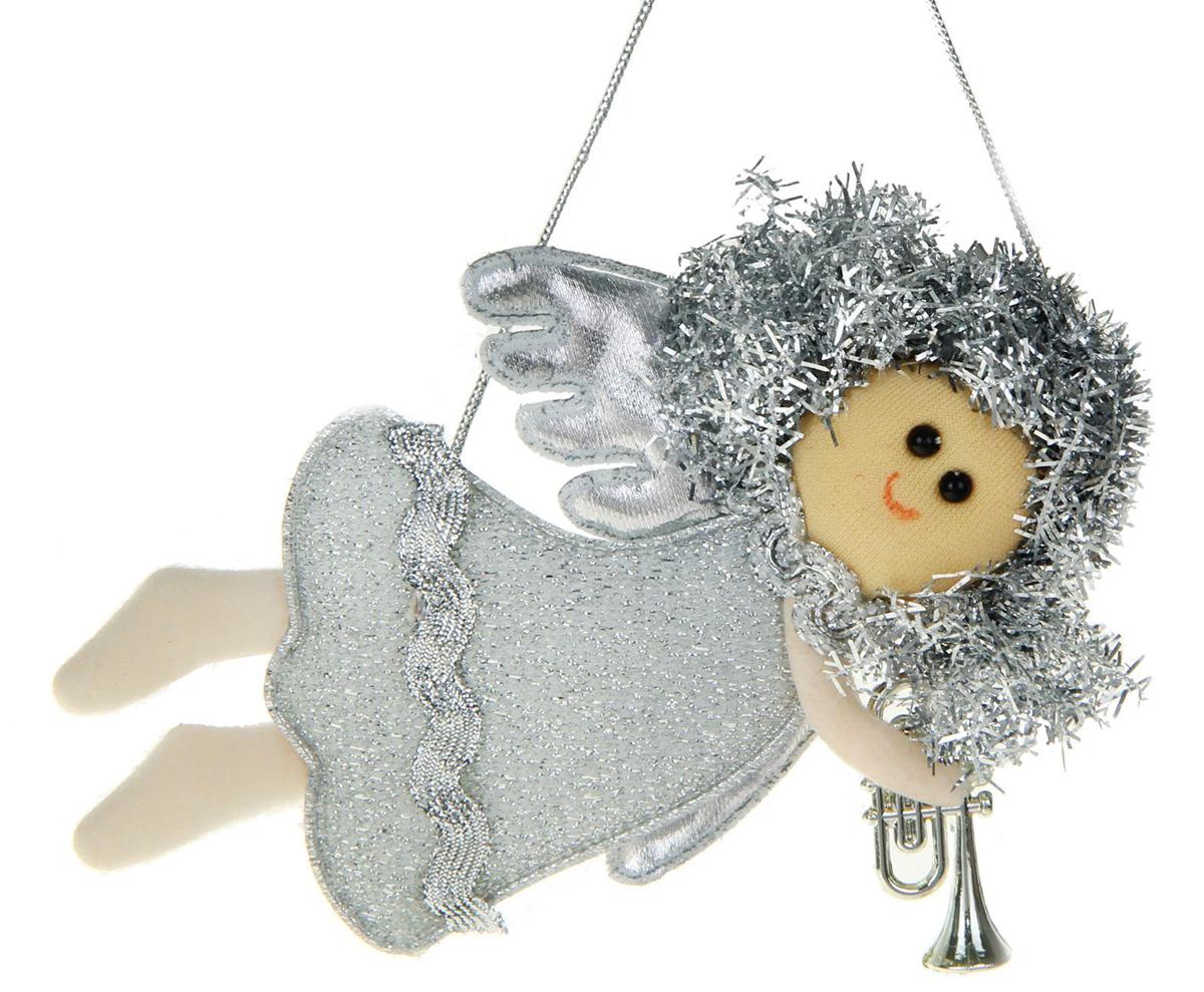Новогоднее подвесное украшение Летящая фея с трубой1381190Новогоднее украшение ручной работы отлично подойдет для декорации вашего дома и новогодней ели. С помощью специальной петельки украшение можно повесить в любом понравившемся вам месте. Но, конечно, удачнее всего оно будет смотреться на праздничной елке.Елочная игрушка - символ Нового года. Она несет в себе волшебство и красоту праздника. Такое украшение создаст в вашем доме атмосферу праздника, веселья и радости.