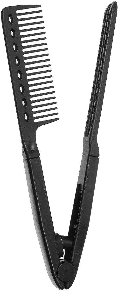 Lovely Расческа для укладки волос, цвет: черный7005_черныйДостоинства:- легкость в применении;- невысокая стоимость;- изготовлена из термостойкого пластика, что обеспечивает легкость и надежность;- компактный размер.Размеры: 24 x 3.5 x 1.6 см Как использовать расчески для выпрямления волос?Первым делом нужно подготовить волосы. Для этого мы их хорошенько вымываем и наносим кондиционер, желательно такой, который не нужно будет смывать. Еще можно воспользоваться специальным средством для выпрямления волос – оно будет помогать удерживать влагу на волосах и будет дополнительной защитой от агрессивного воздействия.Далее следует еще один подготовительный этап – нам предстоит поделить все волосы на небольшие пряди и закрепить их на макушке, оставив одну рабочую прядь.Теперь можно заняться собственно выпрямлением. При помощи расчески для выпрямления волос и фена мы избавляемся от непослушных локонов, на смену которым приходят ровные, идеально гладкие великолепные волосы.После того как Вы выпрямили каждую прядь, следует зафиксировать результат при помощи лака для волос.Как видите, расческа для выпрямления волос не требует никаких особенных навыков, в то время как эффект от ее применения просто ошеломляющий. Это делает ее
