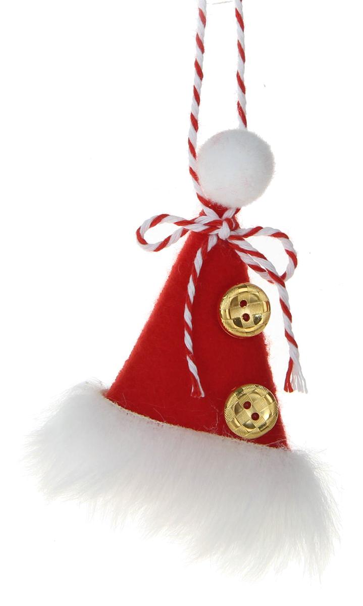 Новогоднее подвесное украшение Пушистый колпак1381154Новогоднее украшение ручной работы отлично подойдет для декорации вашего дома и новогодней ели. С помощью специальной петельки украшение можно повесить в любом понравившемся вам месте. Но, конечно, удачнее всего оно будет смотреться на праздничной елке.Елочная игрушка - символ Нового года. Она несет в себе волшебство и красоту праздника. Такое украшение создаст в вашем доме атмосферу праздника, веселья и радости.