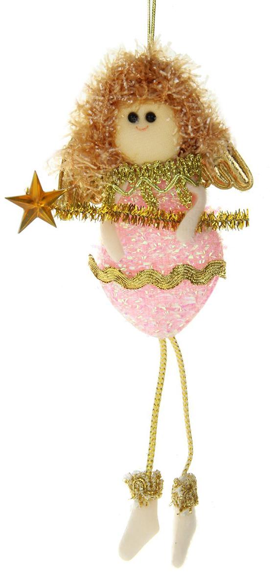 Новогоднее подвесное украшение Розовая фея со звездочкой1381184Новогоднее украшение ручной работы отлично подойдет для декорации вашего дома и новогодней ели. С помощью специальной петельки украшение можно повесить в любом понравившемся вам месте. Но, конечно, удачнее всего оно будет смотреться на праздничной елке.Елочная игрушка - символ Нового года. Она несет в себе волшебство и красоту праздника. Такое украшение создаст в вашем доме атмосферу праздника, веселья и радости.