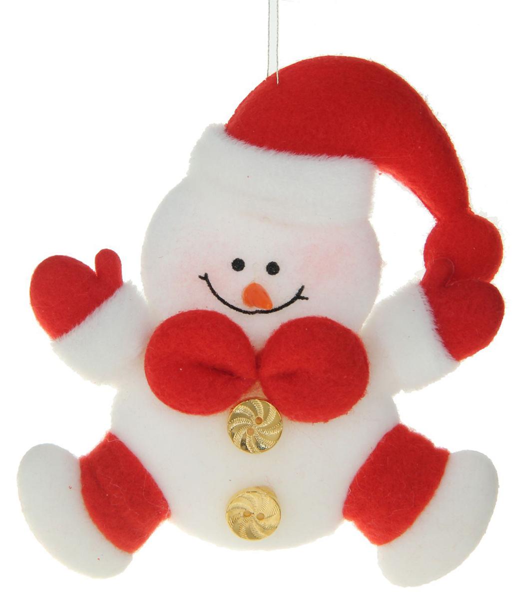 Украшение новогоднее Снеговик с красным бантиком1381168Ничто так не преображает торжество, как очаровательные новогодние игрушки. Мягкое украшение наполнит праздничный интерьер уютом. Используйте его отдельно или повесьте на елку. Оригинальный декор создаст чудесное настроение. Ведь праздник складывается из милых сердцу мелочей.