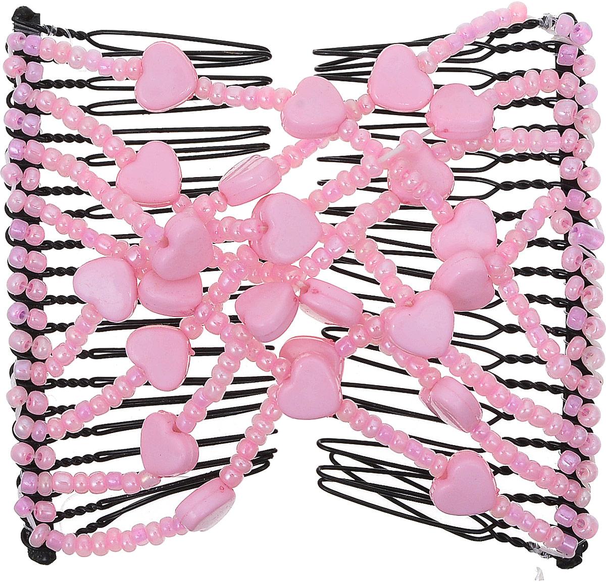 EZ-Combs Заколка Изи-Комбс, одинарная, цвет: розовый. ЗИО_сердечкиЗИО_розовый, сердечкиУдобная и практичная EZ-Combs подходит для любого типа волос: тонких, жестких, вьющихся или прямых, и не наносит им никакого вреда. Заколка не мешает движениям головы и не создает дискомфорта, когда вы отдыхаете или управляете автомобилем. Каждый гребень имеет по 20 зубьев для надежной фиксации заколки на волосах! И даже во время бега и интенсивных тренировок в спортзале EZ-Combs не падает; она прочно фиксирует прическу, сохраняя укладку в первозданном виде.Небольшая и легкая заколка для волос EZ-Combs поместится в любой дамской сумочке, позволяя быстро и без особых усилий создавать неповторимые прически там, где вам это удобно. Гребень прекрасно сочетается с любой одеждой: будь это классический или спортивный стиль, завершая гармоничный облик современной леди. И неважно, какой образ жизни вы ведете, если у вас есть EZ-Combs, вы всегда будете выглядеть потрясающе.