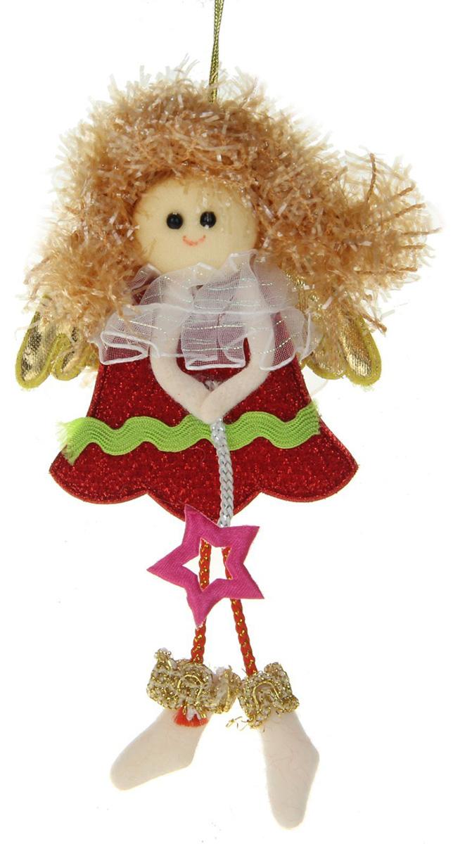 Новогоднее подвесное украшение Фея со звездочкой. Красное платье1381176Новогоднее украшение ручной работы отлично подойдет для декорации вашего дома и новогодней ели. С помощью специальной петельки украшение можно повесить в любом понравившемся вам месте. Но, конечно, удачнее всего оно будет смотреться на праздничной елке.Елочная игрушка - символ Нового года. Она несет в себе волшебство и красоту праздника. Такое украшение создаст в вашем доме атмосферу праздника, веселья и радости.