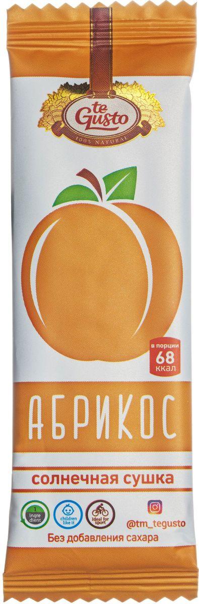 te Gusto фруктовый батончик из абрикоса, 25 г46571553019310Фруктовые батончики te Gusto без ГМО, глютена, сои, сахара, фруктозы, красителей, усилителей вкуса, загустителей. В составе только один ингредиент – плод, выращенный в экологически чистом районе. Особый способ измельчения плодов позволяет сохранить