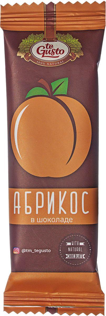 te Gusto фруктовый батончик из абрикоса в шоколаде, 30 г te gusto варенье из земляники и абрикоса 470 г