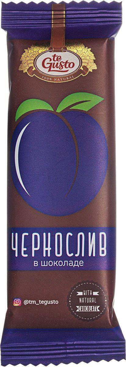te Gusto фруктовый батончик из чернослива в шоколаде, 30 г46571553019938Фруктовые батончики в шоколаде te Gusto не содержат ГМО, глютена, сои, красителей, усилителей вкуса, загустителей. Батончик состоит из фруктовой части , в составе которой один ингредиент – ягода/фрукт, выращенный в экологически чистом районе Армении, и