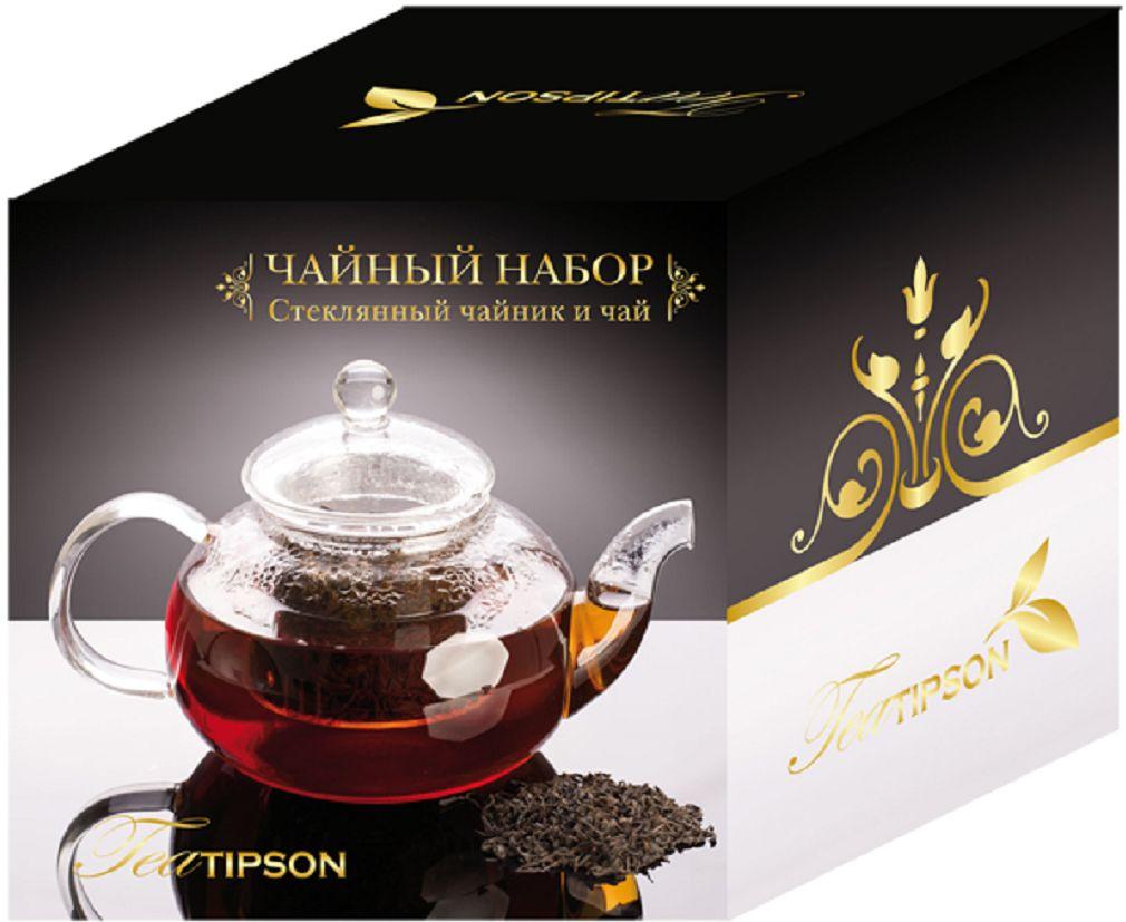 Tipson Империал №3 Чайный набор Стеклянный чайник и чай, 50 г tipson империал 3 чайный набор стеклянный чайник и чай 50 г