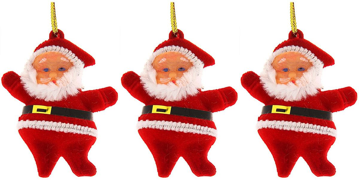 Набор новогодних подвесных украшений Дед Мороз приветствует, высота 6 см, 3 шт730192Набор новогодних подвесных украшений отлично подойдет для декорации вашего дома и новогодней ели. С помощью специальной петельки украшение можно повесить в любом понравившемся вам месте. Но, конечно, удачнее всего оно будет смотреться на праздничной елке.Елочная игрушка - символ Нового года. Она несет в себе волшебство и красоту праздника. Такое украшение создаст в вашем доме атмосферу праздника, веселья и радости.