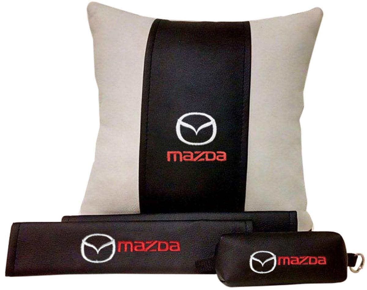 Подарочный набор автомобилисту Auto Premium Mazda, 3 предмета67604В набор входит:-подушка в салон автомобиля-накладки на ремень безопасности-ключница.На все изделия нанесена индивидуальная вышивка. При производстве используется качественная и износостойкая экокожа, что позволяет надолго сохранить презентабельный внешний вид любого изделия. Такой подарок не оставит равнодушным ни одного автолюбителя.