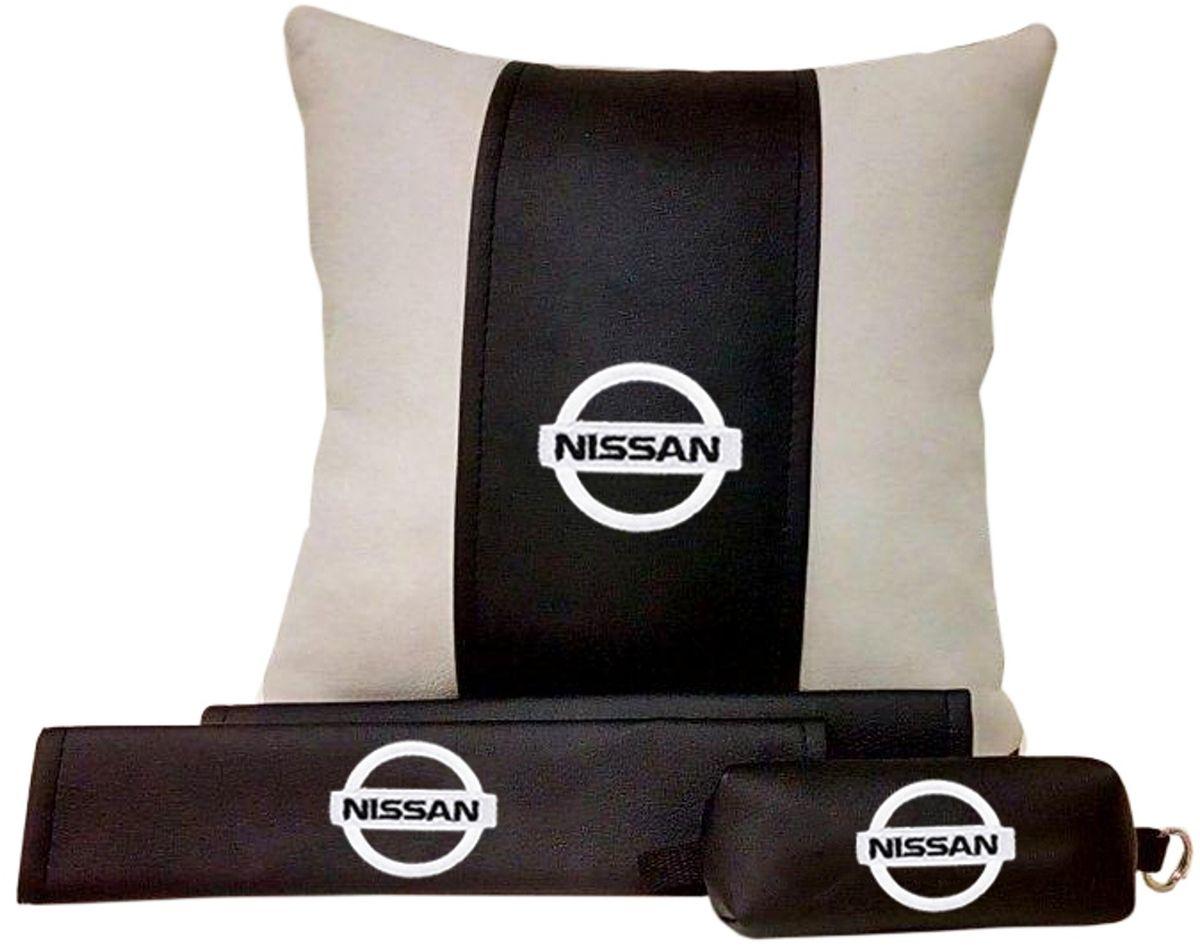 Подарочный набор автомобилисту Auto Premium Nissan, 3 предмета67605В набор входит: -подушка в салон автомобиля -накладки на ремень безопасности -ключница. На все изделия нанесена индивидуальная вышивка. При производстве используется качественная и износостойкая экокожа, что позволяет надолго сохранить презентабельный внешний вид любого изделия. Такой подарок не оставит равнодушным ни одного автолюбителя.