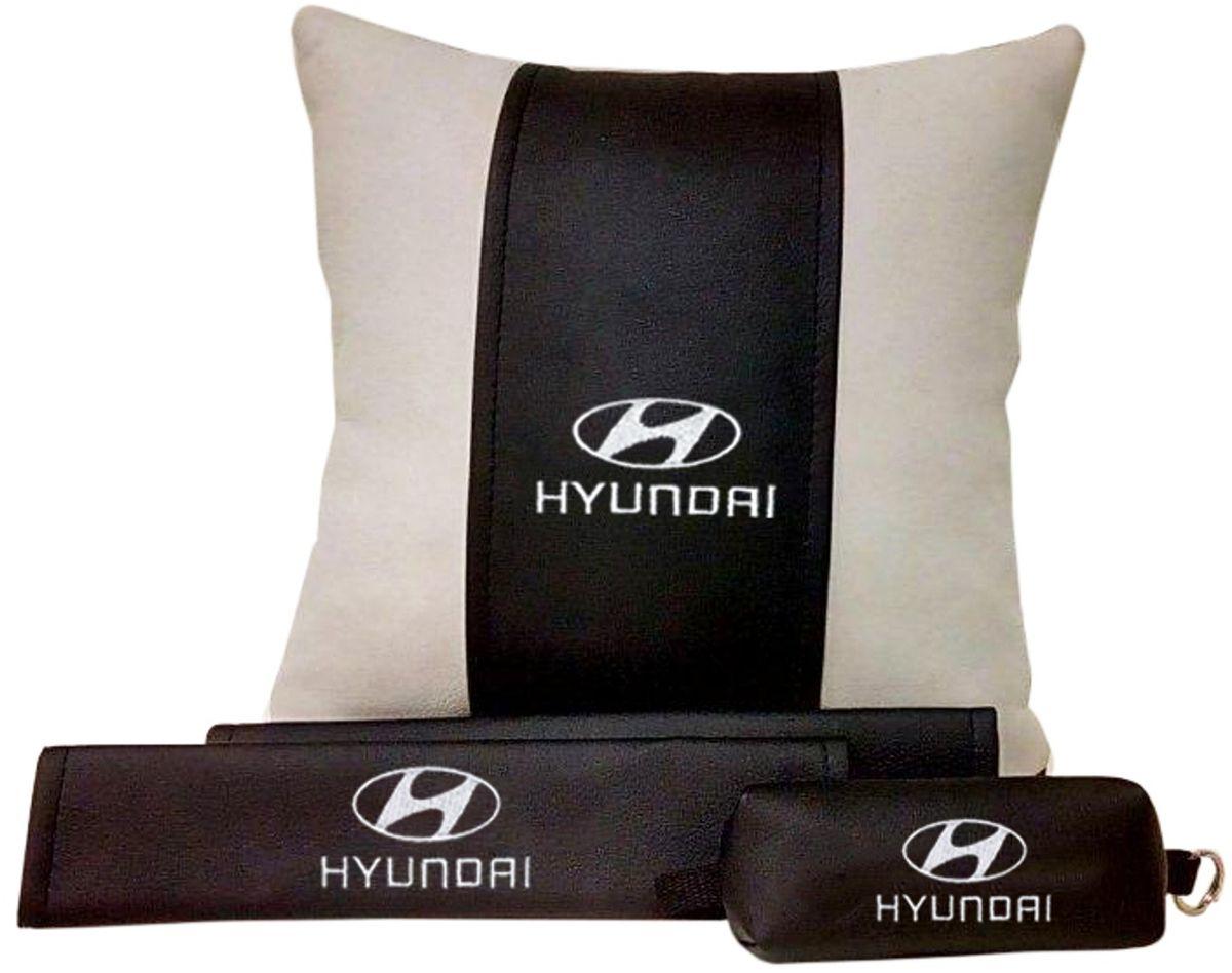 Подарочный набор автомобилисту Auto Premium Hyundai, 3 предмета67609В набор входит:-подушка в салон автомобиля-накладки на ремень безопасности-ключница.На все изделия нанесена индивидуальная вышивка. При производстве используется качественная и износостойкая экокожа, что позволяет надолго сохранить презентабельный внешний вид любого изделия. Такой подарок не оставит равнодушным ни одного автолюбителя.