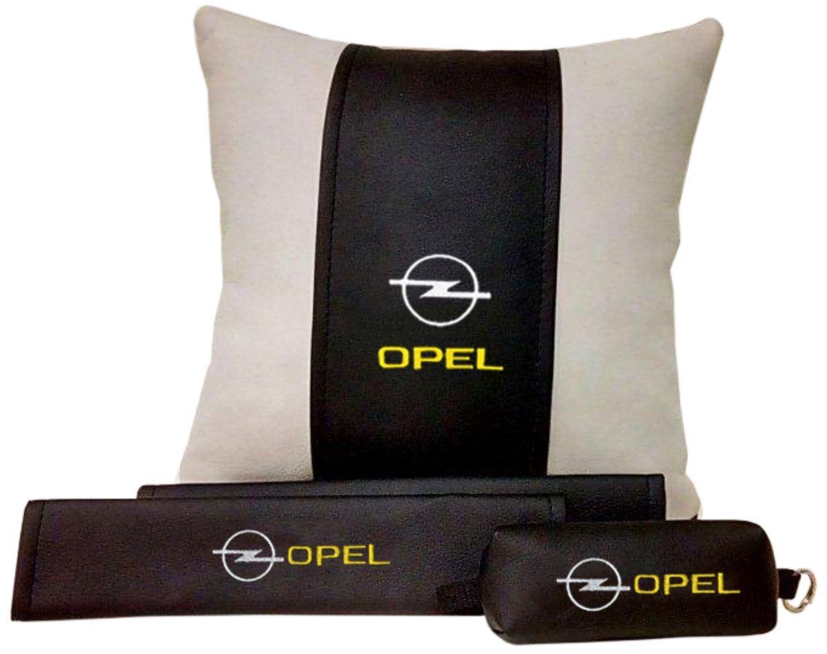 Подарочный набор автомобилисту Auto Premium Opel, 3 предмета67611В набор входит:-подушка в салон автомобиля-накладки на ремень безопасности-ключница.На все изделия нанесена индивидуальная вышивка. При производстве используется качественная и износостойкая экокожа, что позволяет надолго сохранить презентабельный внешний вид любого изделия. Такой подарок не оставит равнодушным ни одного автолюбителя.