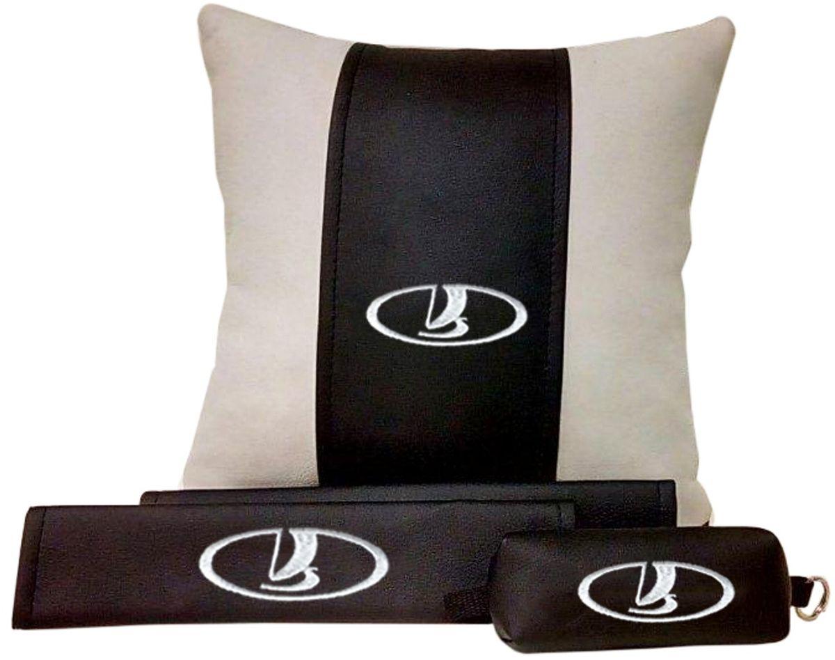 Подарочный набор автомобилисту Auto Premium Lada, 3 предмета67612В набор входит:-подушка в салон автомобиля-накладки на ремень безопасности-ключница.На все изделия нанесена индивидуальная вышивка. При производстве используется качественная и износостойкая экокожа, что позволяет надолго сохранить презентабельный внешний вид любого изделия. Такой подарок не оставит равнодушным ни одного автолюбителя.