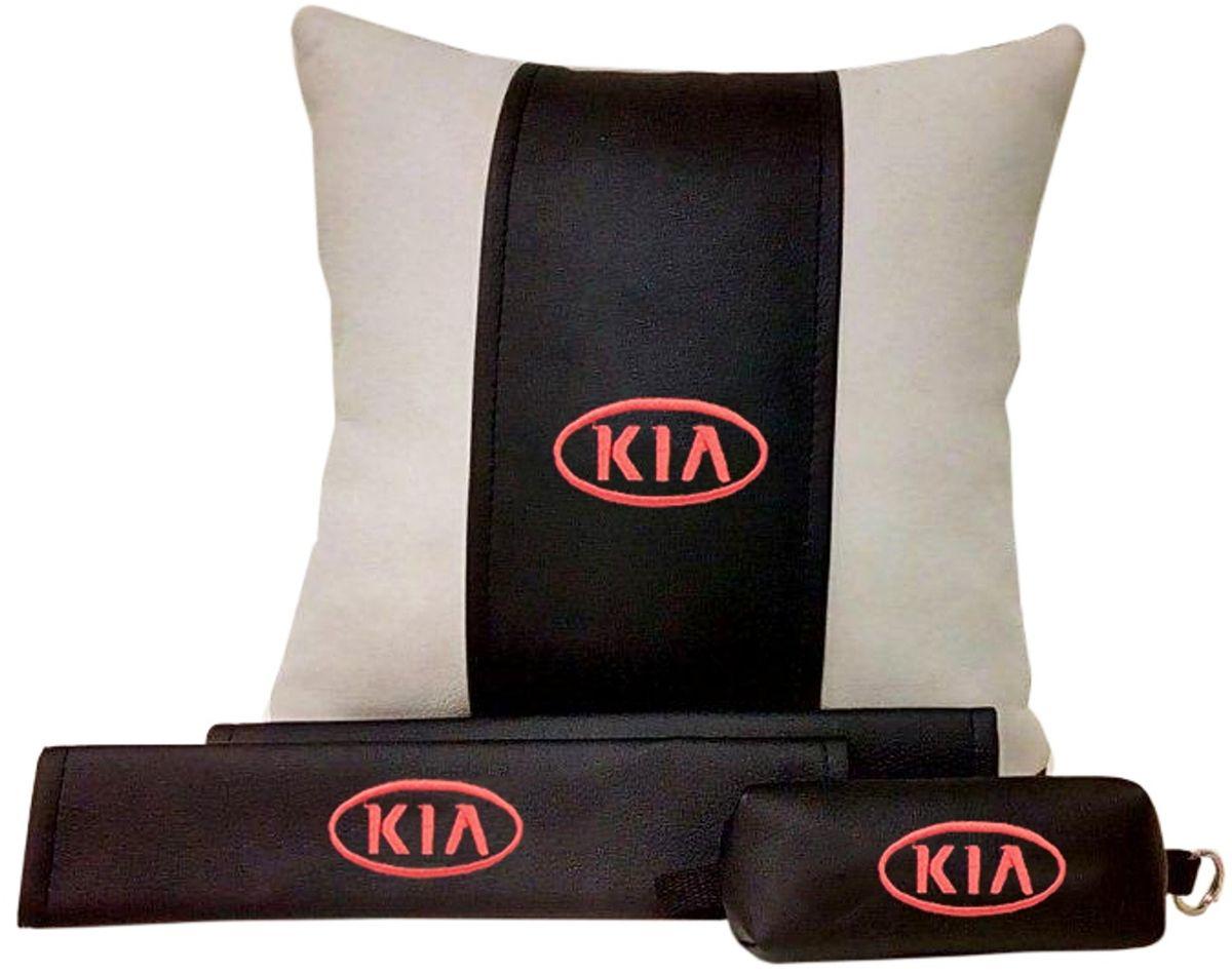 Подарочный набор автомобилисту Auto Premium Kia, 3 предмета67615В набор входит:-подушка в салон автомобиля-накладки на ремень безопасности-ключница.На все изделия нанесена индивидуальная вышивка. При производстве используется качественная и износостойкая экокожа, что позволяет надолго сохранить презентабельный внешний вид любого изделия. Такой подарок не оставит равнодушным ни одного автолюбителя.