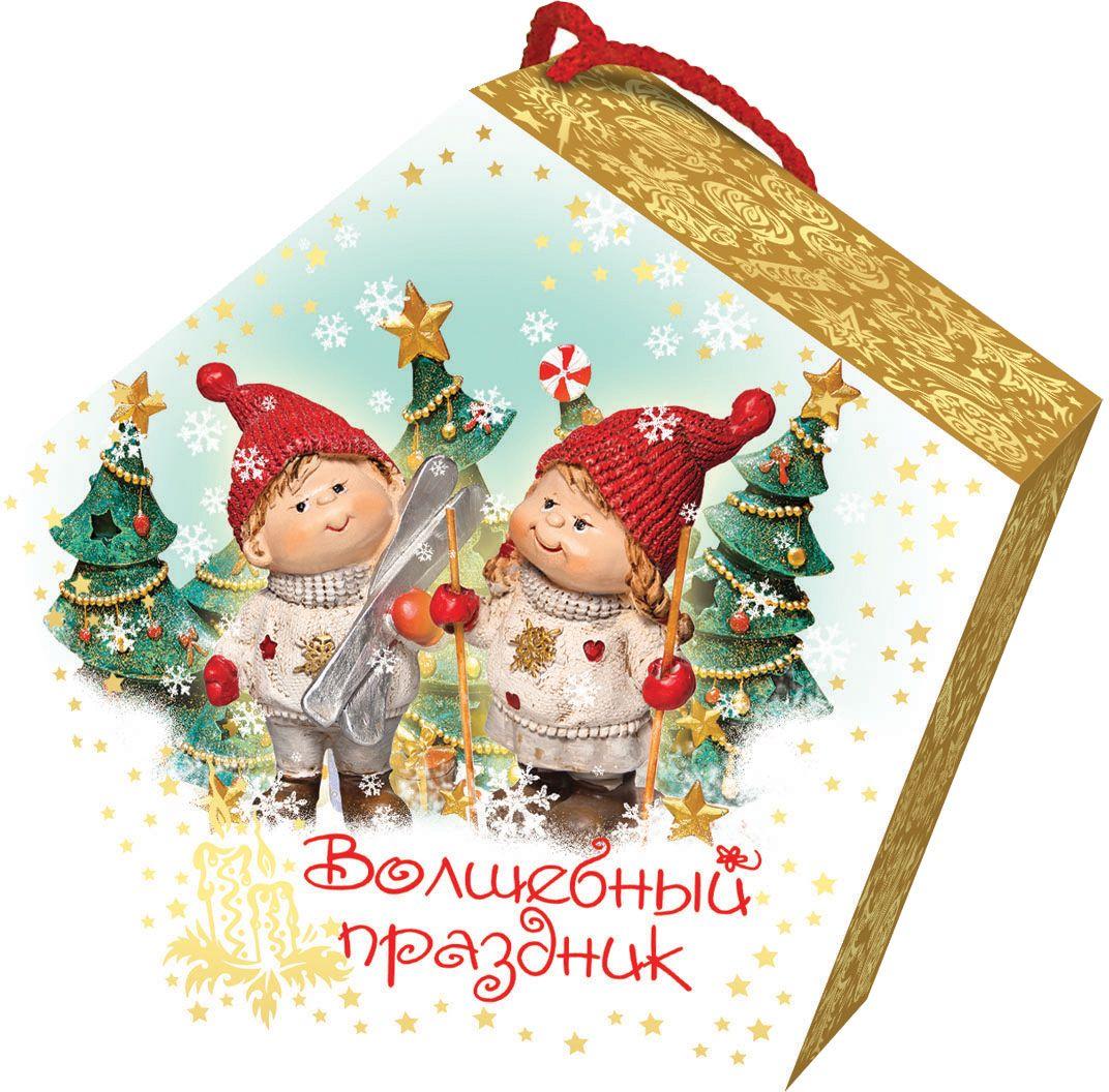 Сладкий новогодний подарок Волшебный праздник (Дети), 500 г1563Новогодние подарки в картонной упаковке считаются самыми популярными для поздравления детей в детских садах и школах, и с каждым годом остаются лидерами продаж. Сладкий Новогодний подарок  Волшебный праздник 500 гр. очарует любого малыша своей яркой, разноцветной упаковкой, а прекрасно подобранный состав кондитерских изделий от самых известных производителей позволит в полной мере насладиться праздником. Прекрасный вариант поздравления детей на утренниках в детских садах и школах.Уважаемые клиенты! Обращаем ваше внимание на возможные изменения в дизайне упаковки. Качественные характеристики товара остаются неизменными. Поставка осуществляется в зависимости от наличия на складе.