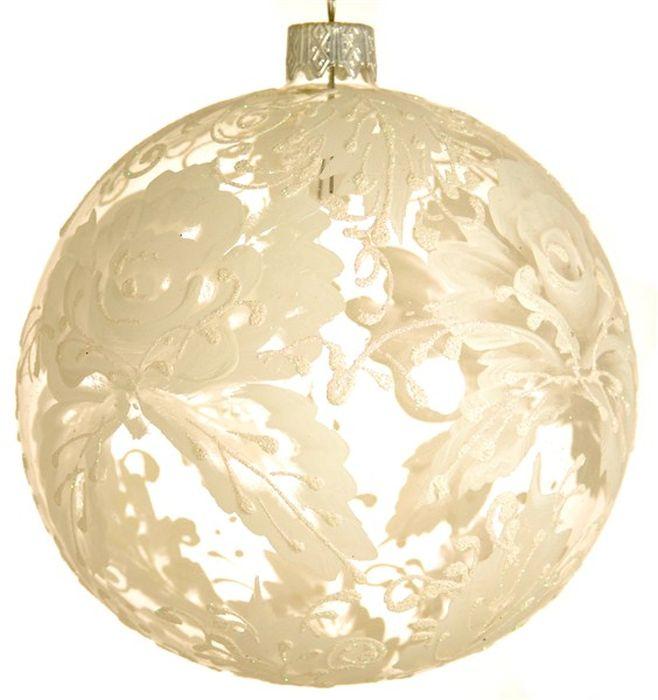 Украшение новогоднее подвесное Роза на прозрачном, ручная работа, диаметр 10 смH-100-0000-N-Роза на прозрачномНовогоднее украшение Роза на прозрачном ручной работы, выполненное из стекла, отлично подойдет для декорации вашего дома и новогодней ели. С помощью специальной петельки украшение можно повесить в любом понравившемся вам месте. Но, конечно, удачнее всего оно будет смотреться на праздничной елке.Елочная игрушка - символ Нового года. Она несет в себе волшебство и красоту праздника. Такое украшение создаст в вашем доме атмосферу праздника, веселья и радости.