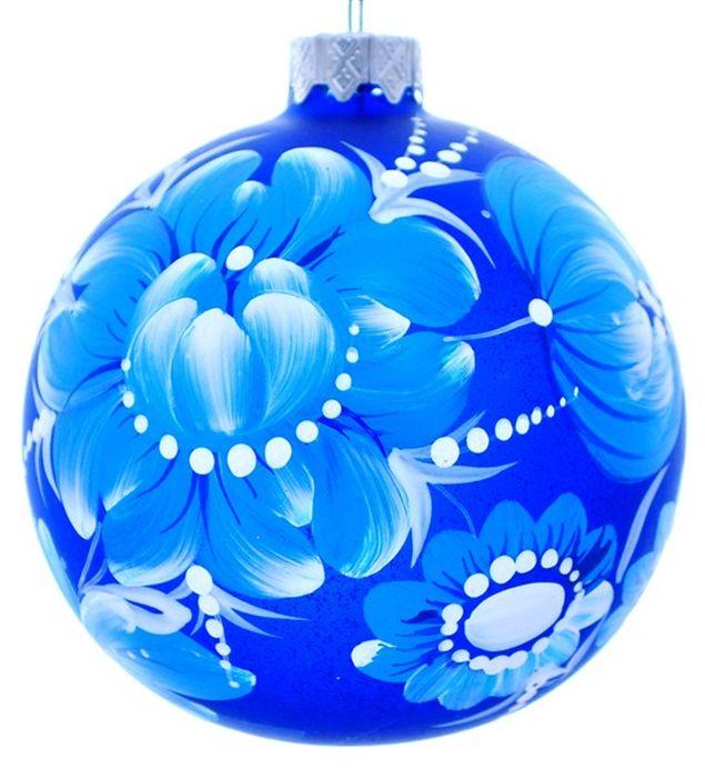 Украшение новогоднее подвесное Петроцвет, ручная работа, диаметр 10 смH-100-260311-N-Петроцвет на синемНовогоднее украшение Петроцвет ручной работы, выполненное из стекла, отлично подойдет для декорации вашего дома и новогодней ели. С помощью специальной петельки украшение можно повесить в любом понравившемся вам месте. Но, конечно, удачнее всего оно будет смотреться на праздничной елке.Елочная игрушка - символ Нового года. Она несет в себе волшебство и красоту праздника. Такое украшение создаст в вашем доме атмосферу праздника, веселья и радости.