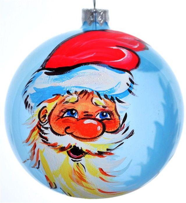 Украшение новогоднее подвесное Клавдиево Дед Мороз луна, ручная работа, диаметр 10 смH-100-28258-N-Дед Мороз лунаНовогоднее украшение Дед Мороз луна ручной работы, выполненное из стекла, отлично подойдет для декорации вашего дома и новогодней ели. С помощью специальной петельки украшение можно повесить в любом понравившемся вам месте. Но, конечно, удачнее всего оно будет смотреться на праздничной елке.Елочная игрушка - символ Нового года. Она несет в себе волшебство и красоту праздника. Такое украшение создаст в вашем доме атмосферу праздника, веселья и радости.