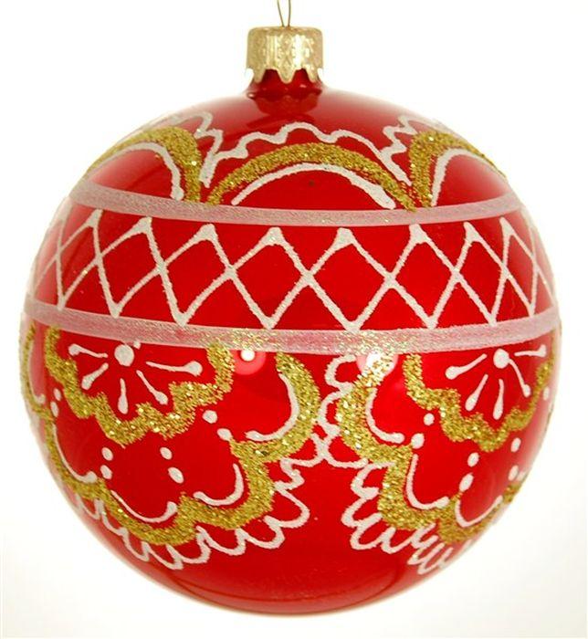Украшение новогоднее подвесное Узор Рождественник, ручная работа, диаметр 10 смH-100-2984-S-Кокошник