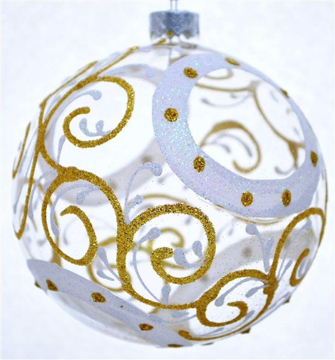 Украшение новогоднее подвесное Четыре круга геометрия, ручная работа, диаметр 8 смH-80-0000-N-Четыре круга геометрия на прозрачном