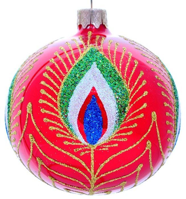 Украшение новогоднее подвесное Клавдиево Жар птица на красном, ручная работа, диаметр 8 смH-80-2984-N-Жар птица на красномНовогоднее украшение Жар птица на красном ручной работы, выполненное из стекла, отлично подойдет для декорации вашего дома и новогодней ели. С помощью специальной петельки украшение можно повесить в любом понравившемся вам месте. Но, конечно, удачнее всего оно будет смотреться на праздничной елке.Елочная игрушка - символ Нового года. Она несет в себе волшебство и красоту праздника. Такое украшение создаст в вашем доме атмосферу праздника, веселья и радости.