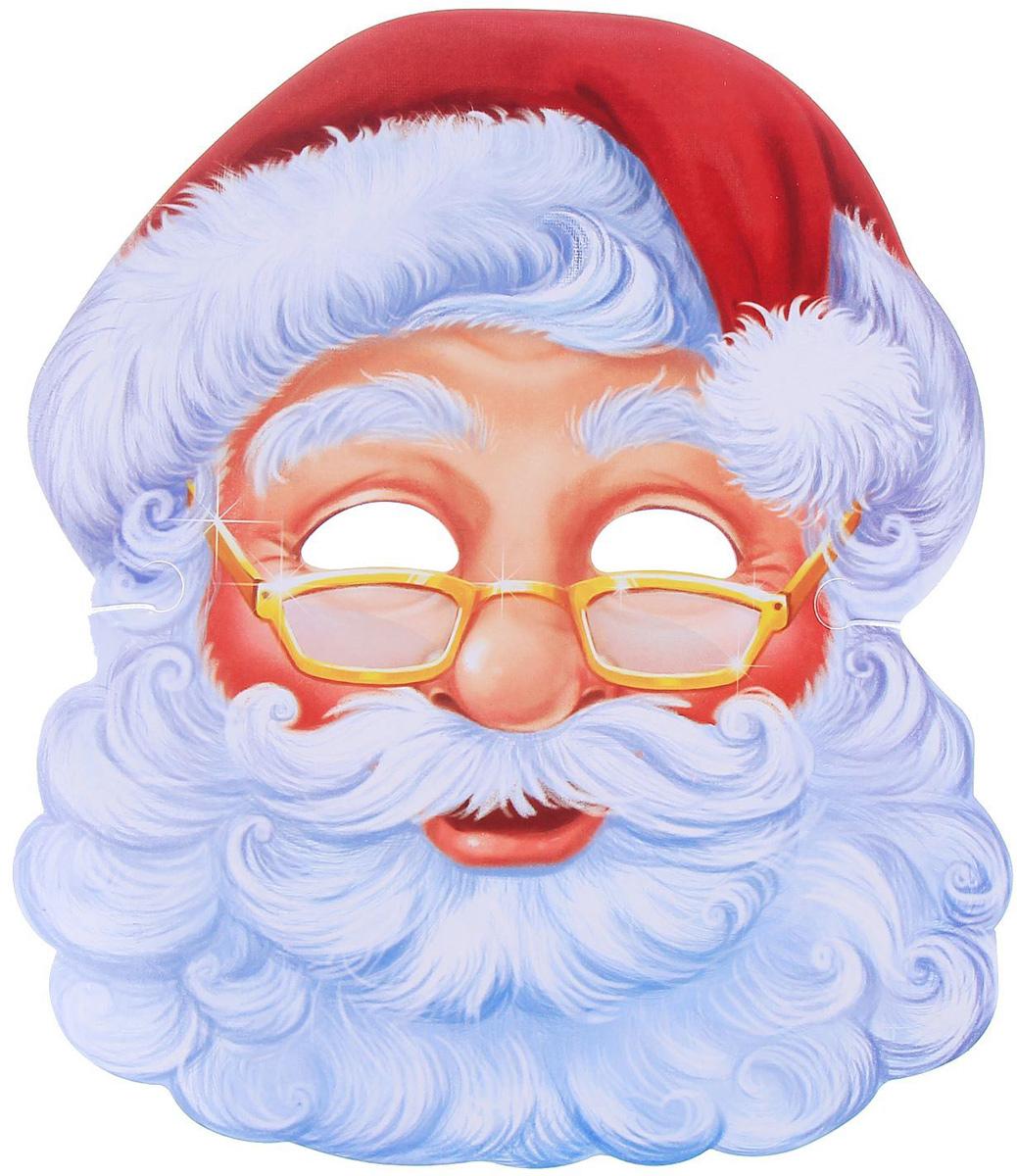 Маска карнавальная  Санта Клаус , 24,1 х 28 см -  Маски карнавальные