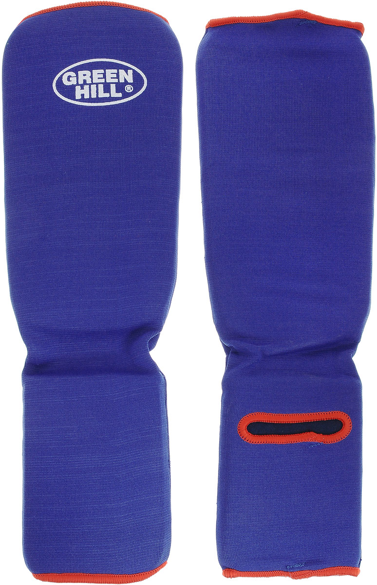 Защита голени и стопы Green Hill Эластик, цвет: синий. Размер XL. SIC-6131